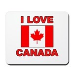 "Canadian Flag ""I Love Canada"" Mousepad"