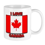 "Canadian Flag ""I Love Canada"" Mug"