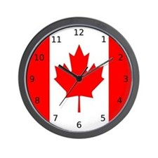 "Canadian Flag ""I Love Canada"" Wall Clock"
