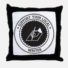 Support Writer Throw Pillow