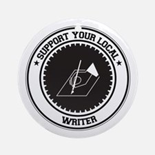 Support Writer Ornament (Round)