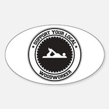 Support Woodworker Oval Decal