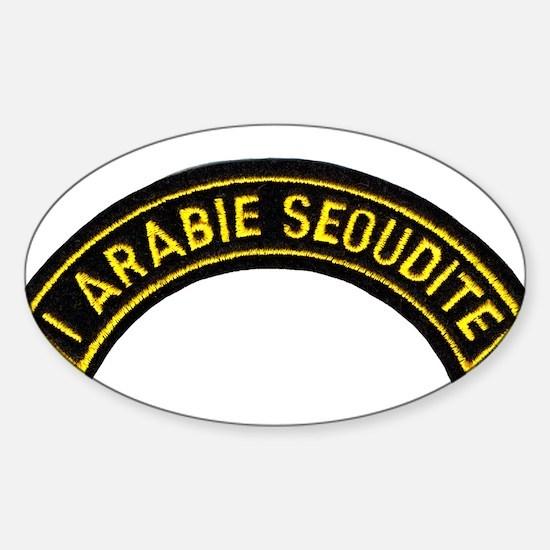 I Arabie Seoudite Oval Decal
