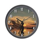 Fairy at Sunset Wall Clock
