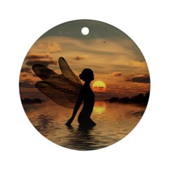 Fairy at Sunset Ornament (Round)