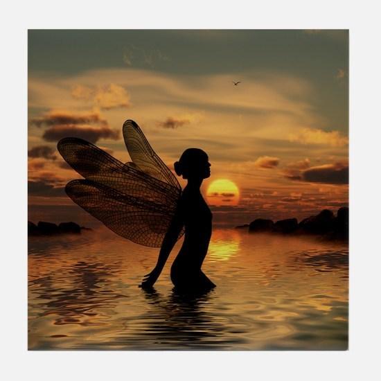 Fairy at Sunset Tile Coaster