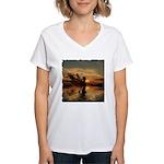 Fairy at Sunset Women's V-Neck T-Shirt