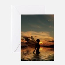 Fairy at Sunset Greeting Card