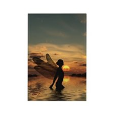 Fairy at Sunset Rectangle Magnet