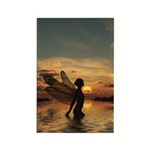 Fairy at Sunset Rectangle Magnet (100 pack)