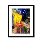 Cafe / Nor Elkhound Framed Panel Print
