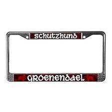 Schutzhund Groenendael License Plate Frame