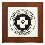 Support Veterinarian Framed Tile