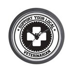 Support Veterinarian Wall Clock