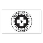 Support Veterinarian Rectangle Sticker 10 pk)
