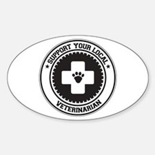 Support Veterinarian Oval Decal