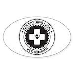 Support Veterinarian Oval Sticker (50 pk)