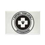 Support Veterinarian Rectangle Magnet