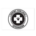 Support Veterinarian Postcards (Package of 8)