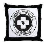 Support Veterinarian Throw Pillow