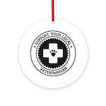 Support Veterinarian Ornament (Round)