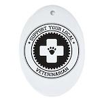 Support Veterinarian Oval Ornament