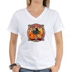 Riverside FD Station 8 Women's V-Neck T-Shirt