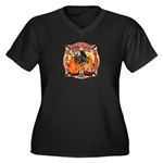 Riverside FD Station 8 Women's Plus Size V-Neck Da