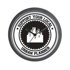 Support Urban Planner Wall Clock