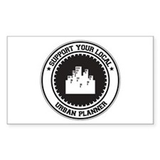 Support Urban Planner Rectangle Decal