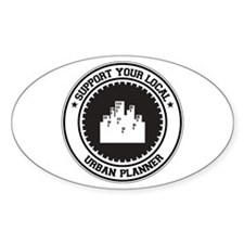 Support Urban Planner Oval Decal