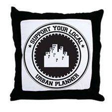 Support Urban Planner Throw Pillow
