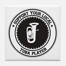 Support Tuba Player Tile Coaster