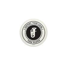 Support Tuba Player Mini Button