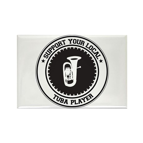 Support Tuba Player Rectangle Magnet