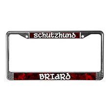 Schutzhund Briard License Plate Frame