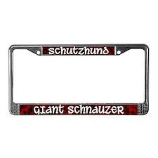 Schutzhund Giant Schnauzer License Plate Frame