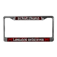 Schutzhund Labrador Retriever License Plate Frame