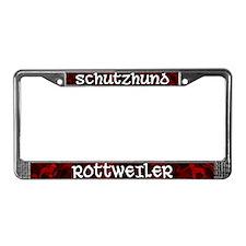 Schutzhund Rottweiler License Plate Frame