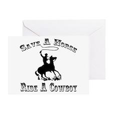 Ride A Cowboy Greeting Card