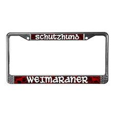 Schutzhund Weimaraner License Plate Frame
