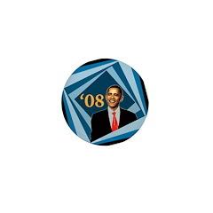 Barack Obama '08 Campaign Pin Blue Squares