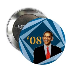 Barack Obama Blue Tunnel '08 Button