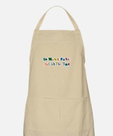 So many color fonts BBQ Apron