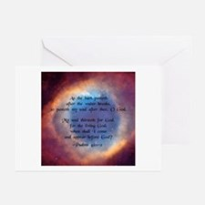 """As the hart"" [Eye/God] Greeting Cards (Package of"