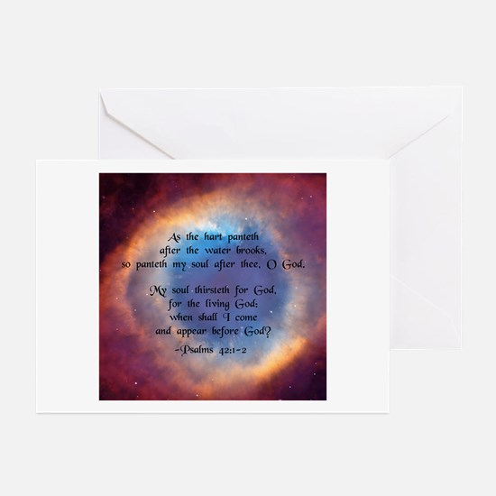 """""""As the hart"""" [Eye/God] Greeting Cards (Package of"""