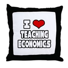 """I Love Teaching Economics"" Throw Pillow"