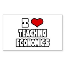 """I Love Teaching Economics"" Rectangle Decal"