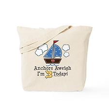 3rd Birthday Sailboat Party Tote Bag