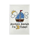 3rd Birthday Sailboat Party Rectangle Magnet (10 p